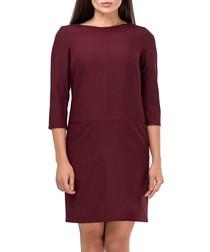 Bordeaux red mid-length dress