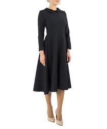 Black knee-length dress