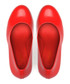 Red leather gravity heel courts  Sale - JADY ROSE Sale