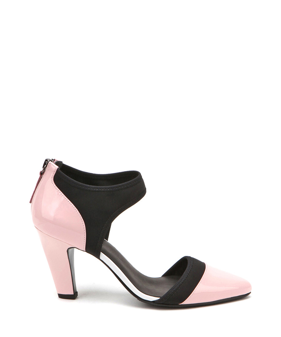 02e328693293 Black   pink leather cut-out heels Sale - JADY ROSE