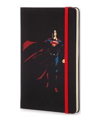 Superman black hardcover ruled notebook