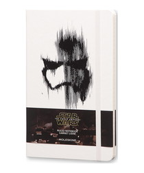 Star Wars white large ruled notebook