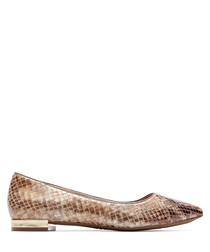 Women's Adelyn nude leather flats