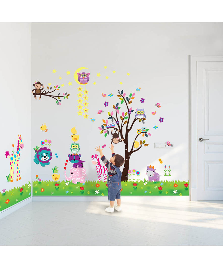 Multi-coloured tree wall stickers Sale - Walplus