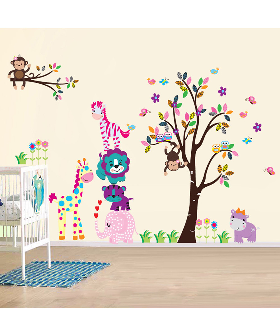 Multi-coloured animals wall stickers Sale - Walplus