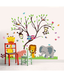 Monkey Forest Tree wall stickers