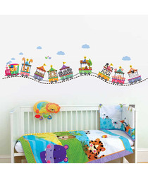 Multi-colour circus number wall stickers