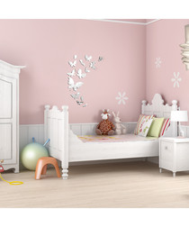 Butterflies mirror wall stickers