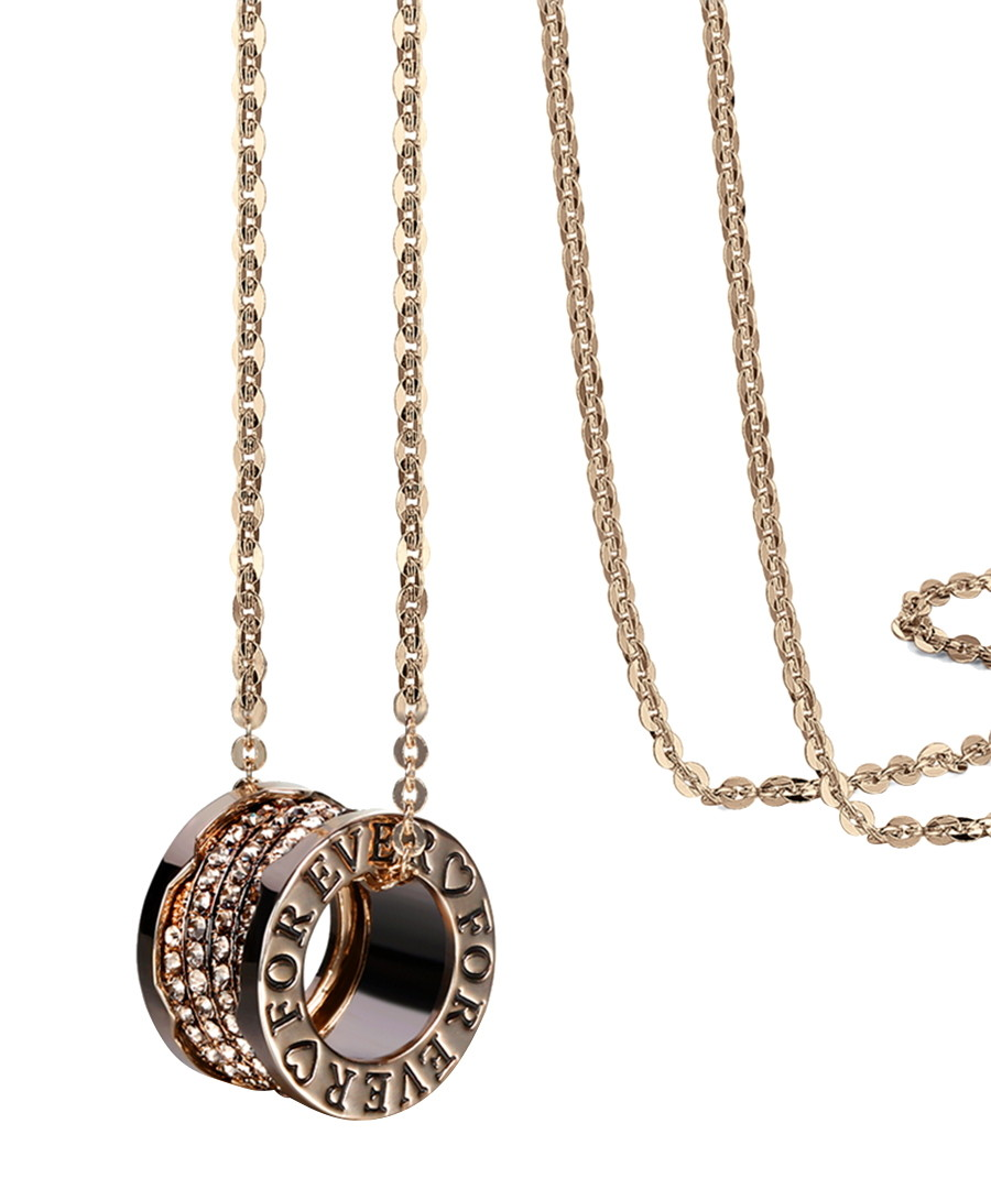 Forever 18ct gold-plated necklace Sale - caromay