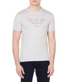 Light grey pure cotton V-neck T-shirt