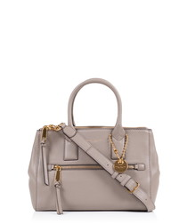 Recruit mink brown leather tote