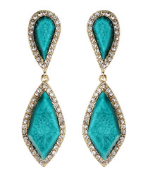 Hampton Classic turquoise earrings