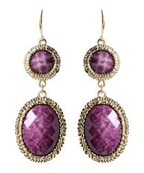 Gabby purple & gold-tone earrings