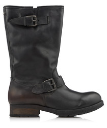 B-My Rock black leather boots
