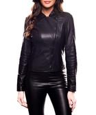 Colmobe black leather jacket