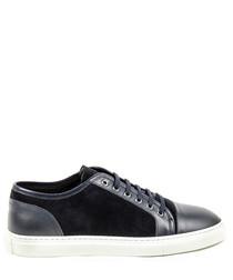 Men's Blue suede panel sneakers