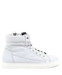 Men's Sauvage white leather sneakers