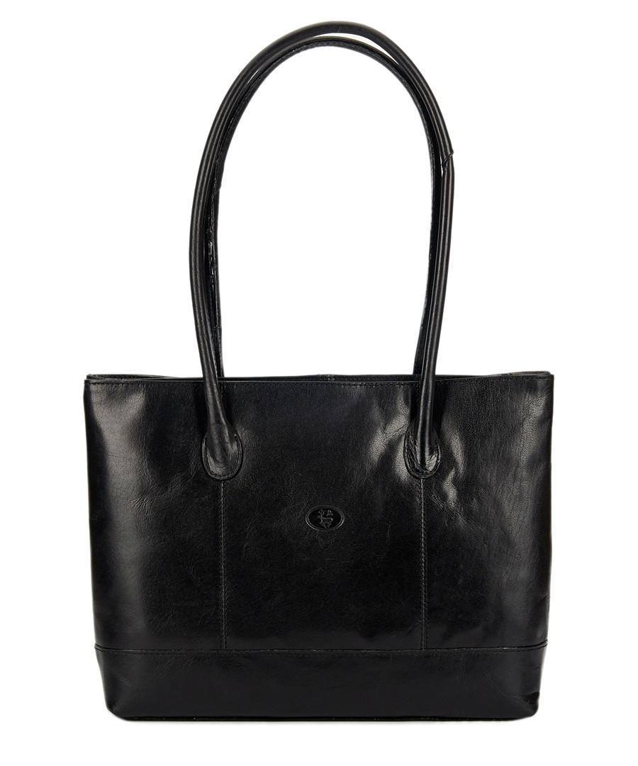 Black leather rectangular shoulder bag Sale - lloyd baker