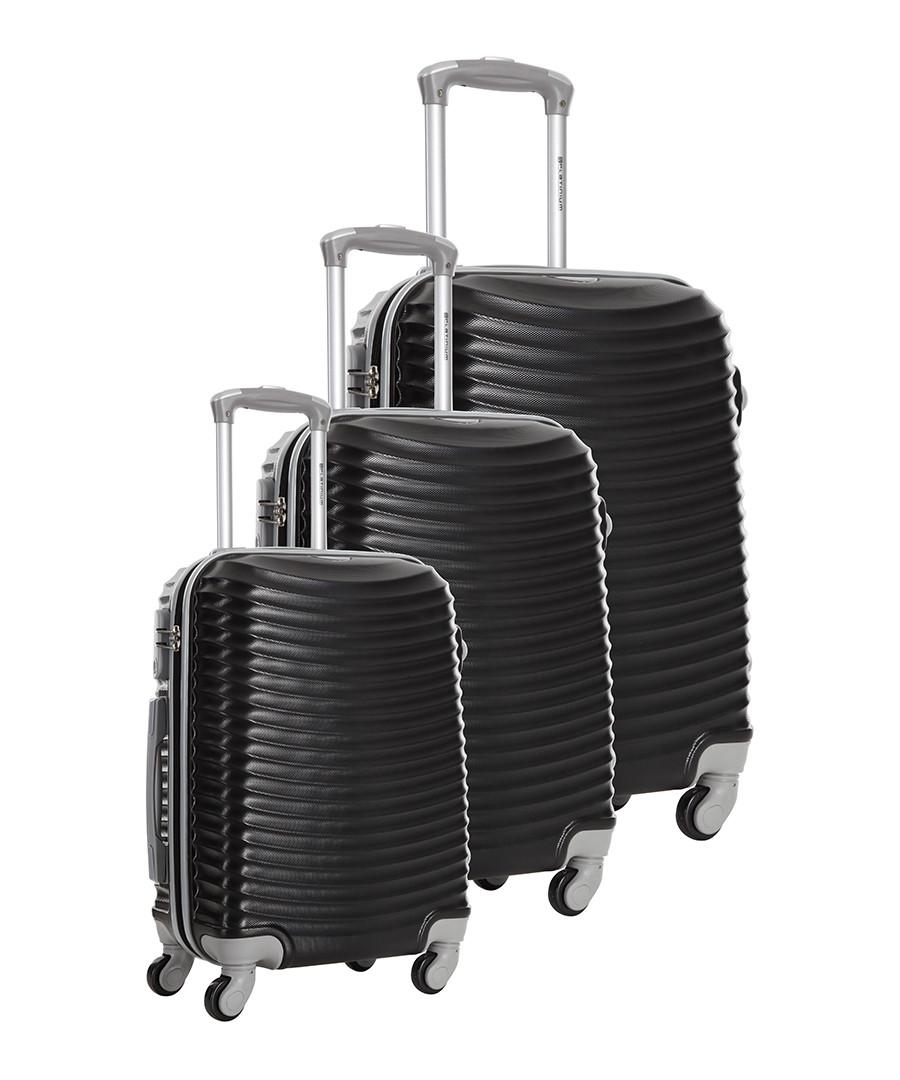 3pc Worcester black suitcase set Sale - platinium