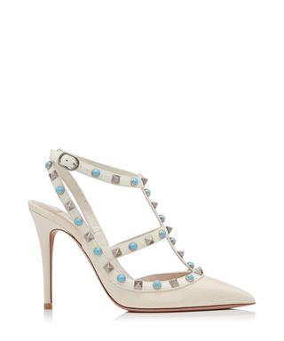 82444597c336 Rockstud light ivory leather heels Sale - VALENTINO Sale
