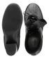 Women's Rockstud black leather tie boots Sale - valentino Sale