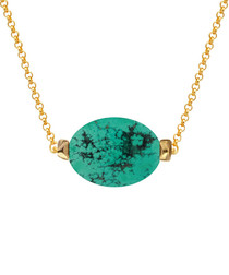 18k gold-plated turquoise necklace