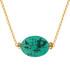 18k gold-plated turquoise necklace Sale - liv oliver Sale