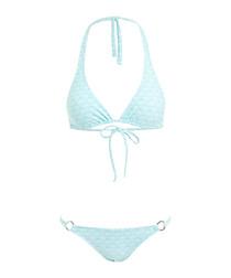 2pc Italy sky halterneck bikini