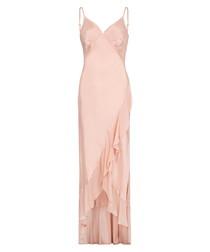 Cannes pastel pink maxi dress