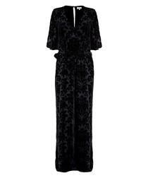Lottie black velvet blend jumpsuit