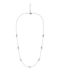 Moments 14k white gold-plated necklace