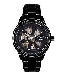 Roue de Temps black steel watch