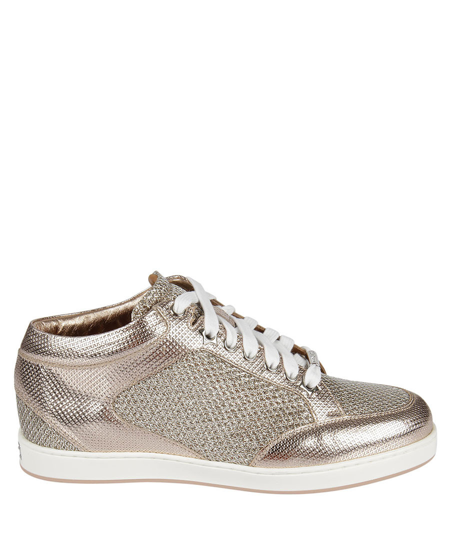 eb1a0eeee ... switzerland womens miami rose gold leather sneakers sale jimmy choo  ef9d2 0c90e
