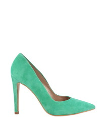 Jade suede pointed courts