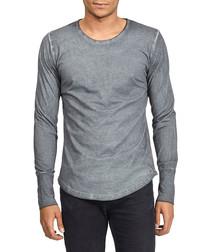 Basic Long grey pure cotton top