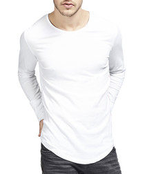 Basic Long white pure cotton top