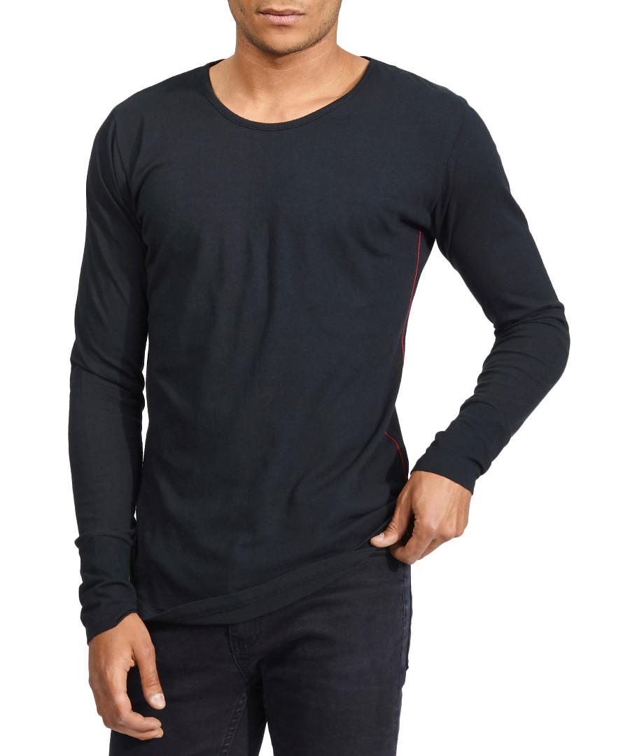 Basic Long black pure cotton top Sale - true prodigy