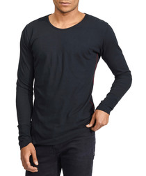 Basic Long black pure cotton top
