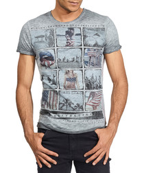 Party Hard grey pure cotton T-shirt