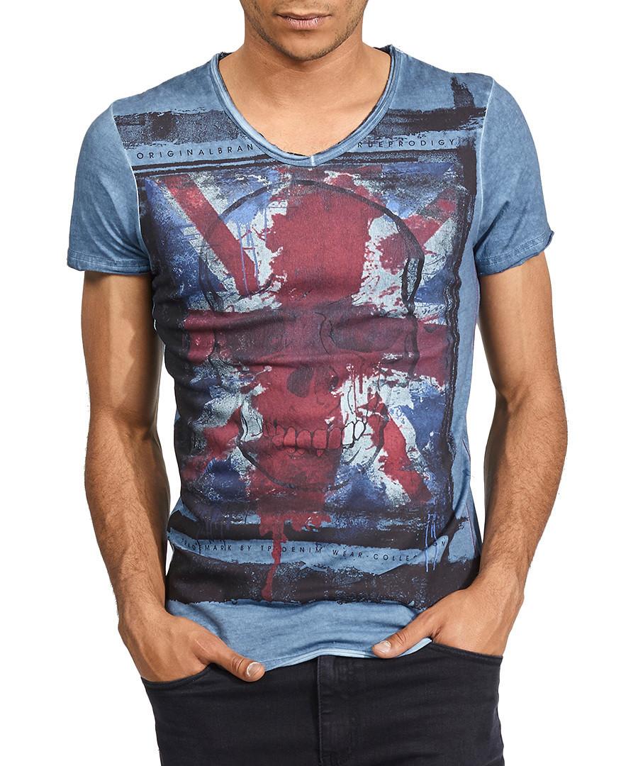 Oblivion blue pure cotton T-shirt  Sale - true prodigy