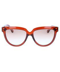Orange & black gradient lens sunglasses