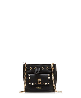Carvela Kurt Geiger. Pearl black chain bucket bag