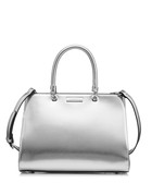 Darla silver structured grab bag