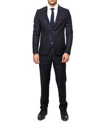 2pc navy single breasted slim fit suit