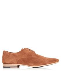 Dorchester tan suede Derby shoes