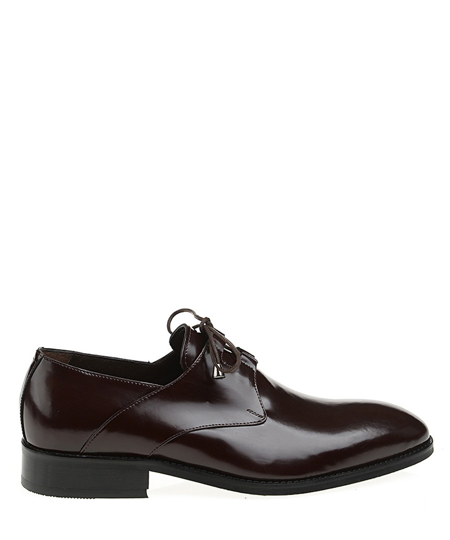 Claret red patent leather loafers  Sale - Baqietto