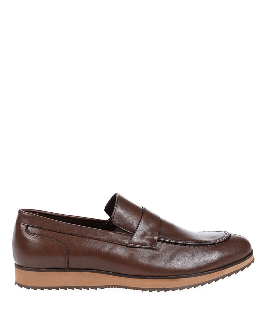 Brown & tan leather loafers  Sale - Baqietto