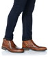 Brown leather perforated boots  Sale - Baqietto Sale