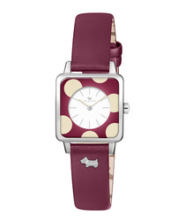 Rochester ruby red leather spot watch