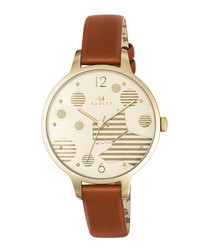 Ormond tan leather & gold-tone watch